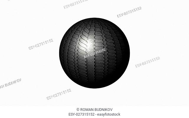 3D sphere isolated over a white background. 3D rendered
