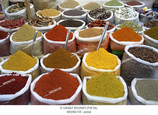 Spice Stall, Anjuna Beach Market, Anjuna, Goa, India