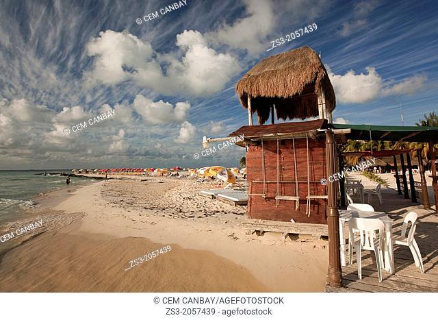 Scene from the beach, Isla Mujeres, Quintana Roo, Yucatan Province, Mexico