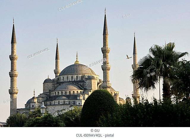 Dome and minarets of Sultan Ahmed Mosque, Istanbul,Turkey