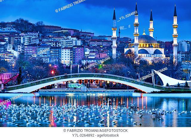 Melike Hatun Mosque as seen from Gençlik Parkı , Ankara, Turkey