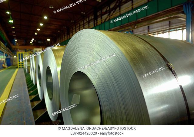 galvanized steel coil in steel plant