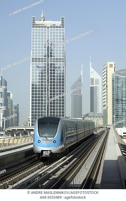 Dusit Thani Dubai. Dubai Metro. The first two lines run underground in the city centre and on elevated viaducts elsewhere (elevated railway)