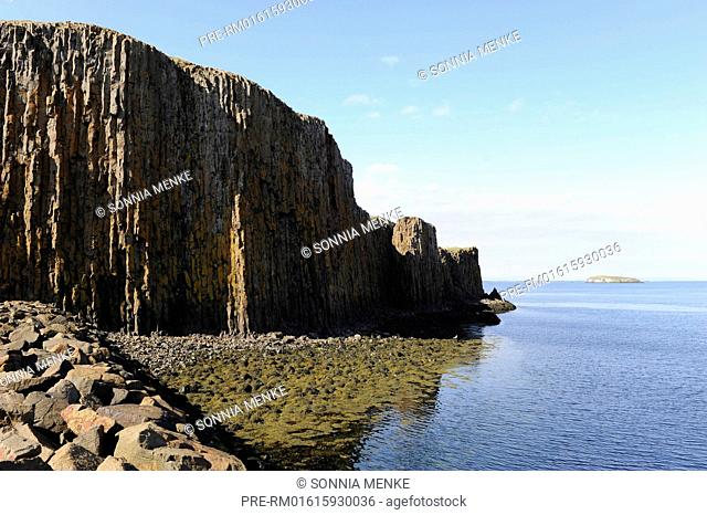 Basalt rocks, Stykkishólmur, North Coast Snæfellsness peninsula, Iceland, May/June 2010