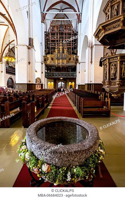 Riga, Latvia, Europe. St. James Cathedral interior