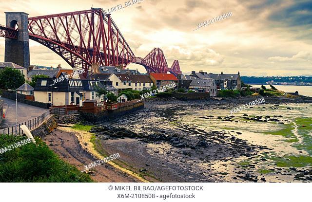 Forth Brigde. North Queensferry. Firth of Forth. Scotland, United Kingdom