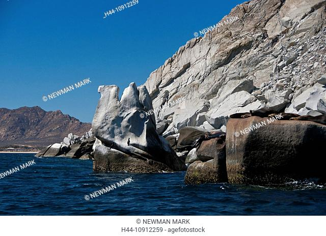cabo pulmo, national marine park, Baja California, Mexico, rocks, coast, water