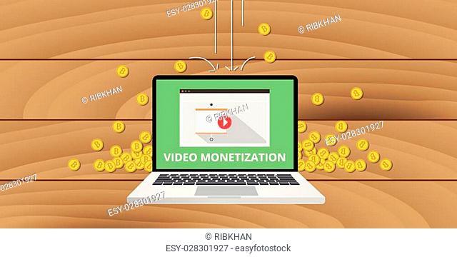 video marketing monetization gold money coin concept
