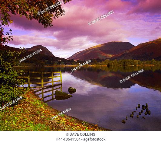 10641504, mountains, Cumbria, dusk, twilight, England, Great Britain, Europe, Grasmere, Great Britain, autumn, scenery, nature