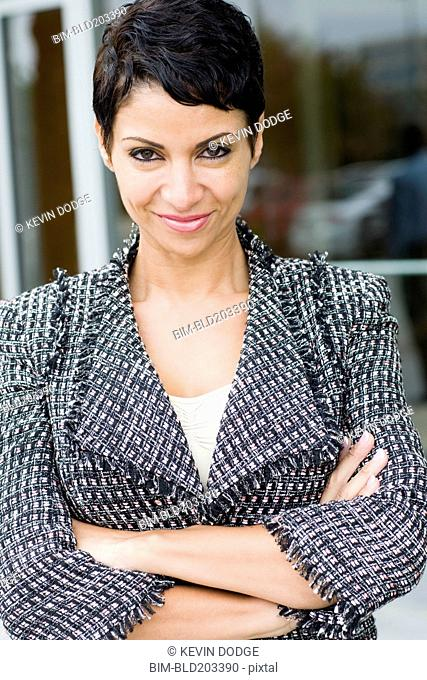 Cape Verdean businesswoman smiling