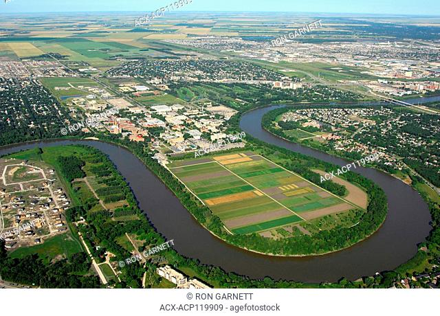 aerial,University of Manitoba, Red River Winnipeg, Manitoba