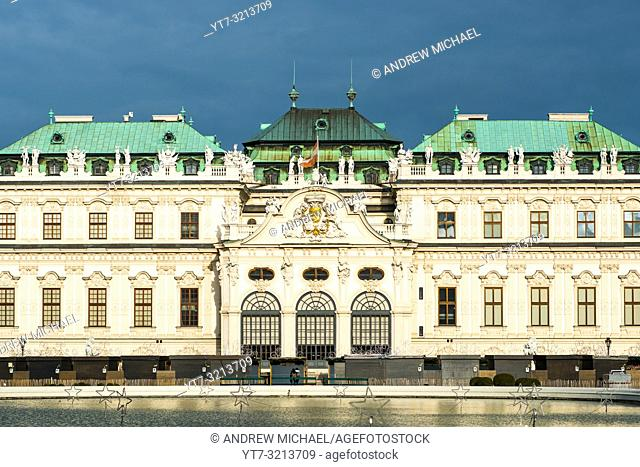 Upper Belvedere Palace. The Belvedere is a baroque palace complex built by Prince Eugene of Savoy in the 3rd district of Vienna. Austria