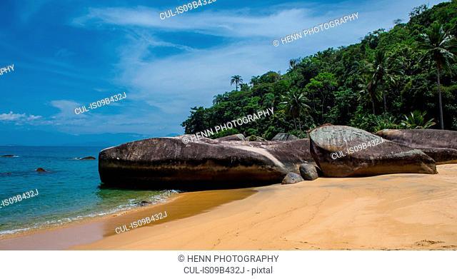 Empty beach, Ilha Grande, Rio de Janeiro, Brazil
