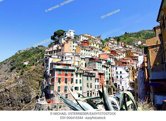 Riomaggiore in the famous region of Cinque Terre in Italy, Europe