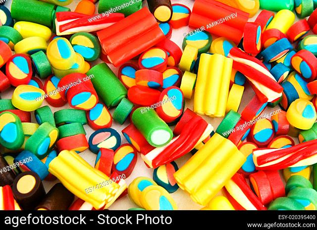 Background made of colourful sweets