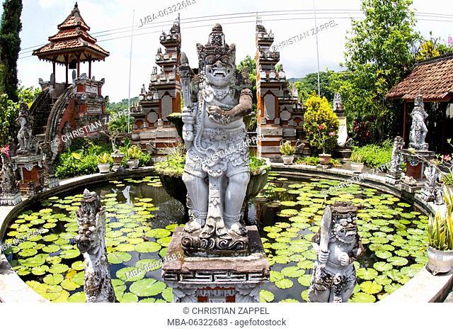 Hindu statue in Buddhist Monastery Brahma Vihara Ashrama, Wihara Buddha Banjar, Bali, Indonesia