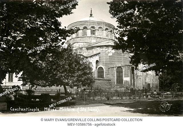 Hagia Irene or Hagia Eirene, often erroneously rendered (as on this card!!!) in English as St Irene - a former Eastern Orthodox church located in the outer...