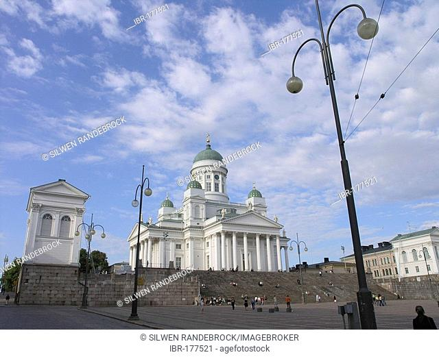 Tuomiokirkko lutheran kathedral and Senate square centre of Helsinki Finland
