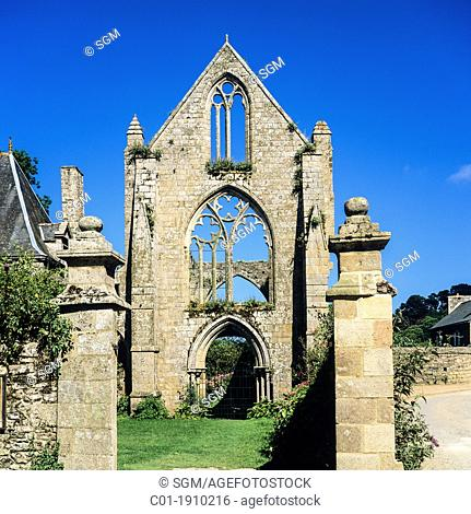 Ruin of 'Beauport' maritime abbey 13th Century 'Paimpol' Brittany France