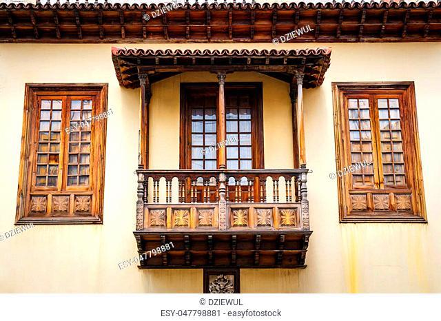 the historical center of La Orotava town, Tenerife Island, Spain