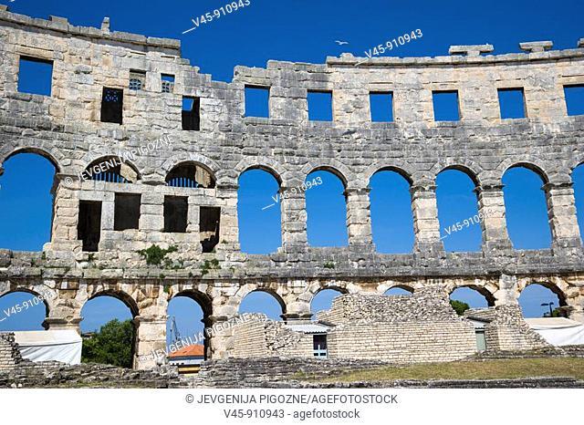 Pula Arena, Roman amphitheatre, Pula, Istria, Croatia