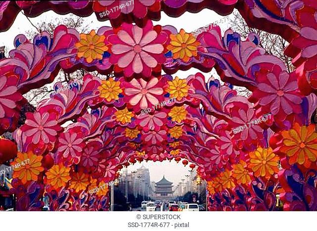 China, Xian, Chinese New Year decoration
