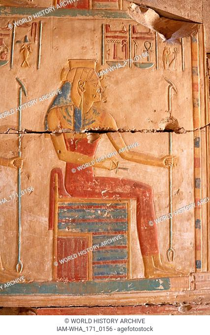 Abydos, one of the oldest cities of ancient Egypt; The goddess Hathor