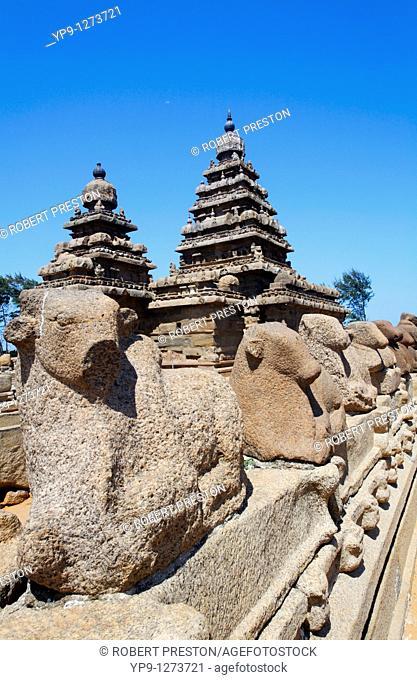 The Shore Temple, Mamallapuram, Tamil Nadu, India