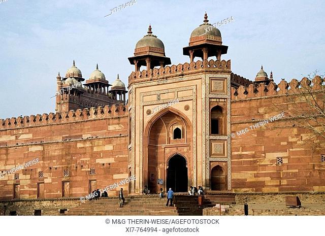 Jama Masjid Mosque, Badshahi Darwaza Gate, Fatehpur Sikri, Uttar Pradesh, India, UNESCO World Heritage Site