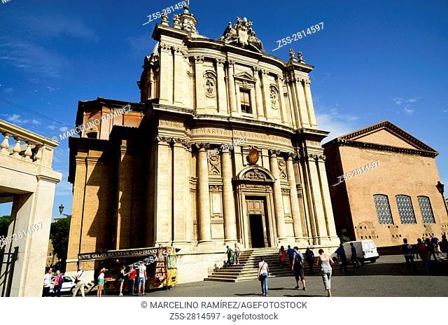 Church of Santi Luca e Martina. Roman Forum. Rome, Lazio, Italy, Europe