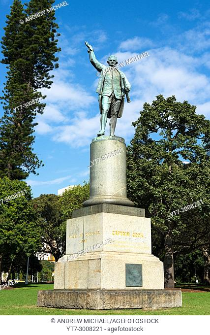 Captain James Cook statue monument in Hyde Park Sydney New South Wales Australia