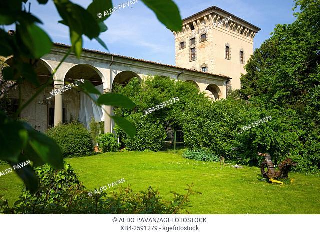 Quistini castle, Rovato, Franciacorta wine area, Brescia province, Italy