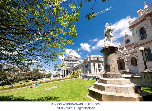 Memorial statue of John Ballance, Parliamentary Library, Wellington, New Zealand