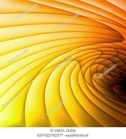 Orange and yellow waves