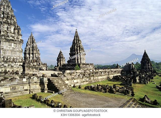 Main Shrine, Prambanan Hindu Temple compound in Java island, Greater Sunda Islands, Republic of Indonesia, Southeast Asia and Oceania