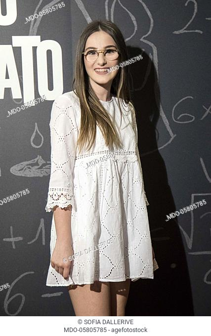 The italian youtuber Sofia Dallerive at the photocall of the film Tonno Spiaggiato, directed by Matteo Martinez with Frank Matano at the Cinema Anteo