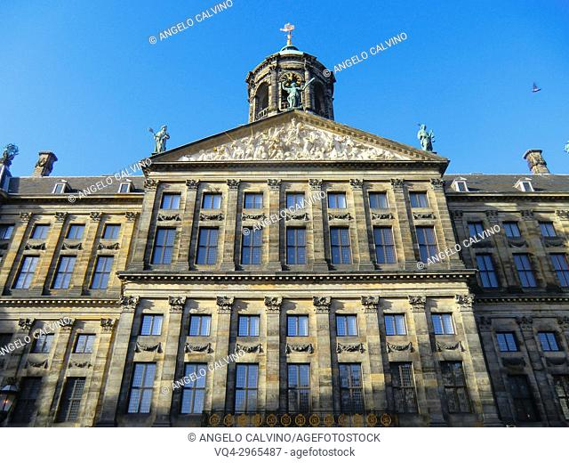 The Royal Palace, built in 1648, originally the Town Hall, Dam Square, Amsterdam, Netherlands, Holland, Europe