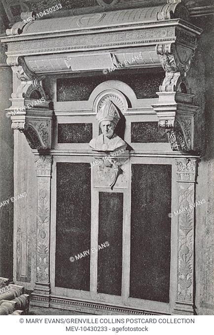 Fiesole, Italy - Tomb of Bishop Leonardo Salutati