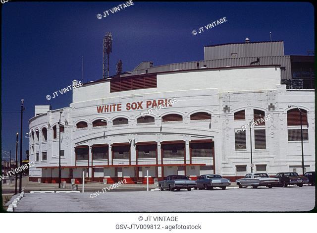White Sox Park, or Comiskey Park, Home of Chicago White Sox Baseball Team, Chicago, Illinois, USA, 1972