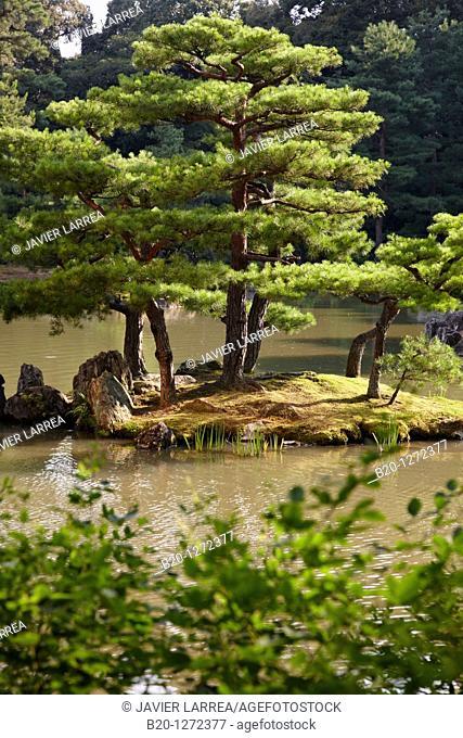 Gardens, Kinkakuji Temple, The Golden Pavilion, Rokuon-ji temple, Kyoto, Japan