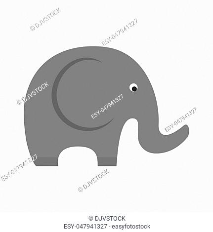 little elephant cute animal icon. Isolated and flat illustration. Vector graphic