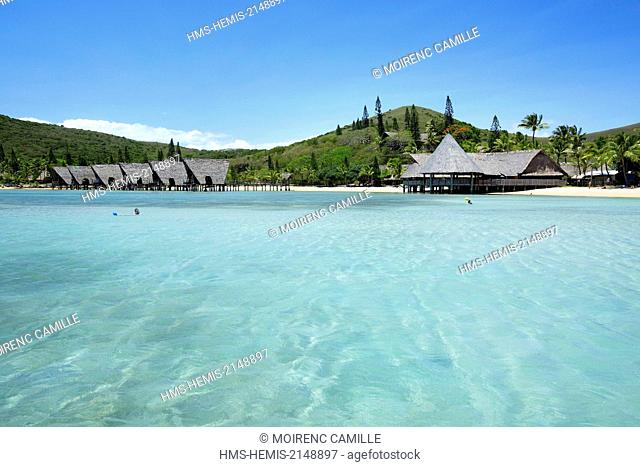 France, New Caledonia, Grande-Terre, Southern Province, Noumea, Peninsula Nouville island Nou Anse Kuendu