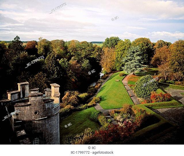 Pleasure Grounds From Castle Walls, Birr Castle, Co Offaly, Ireland