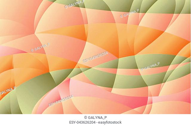 Concept geometric pastel color background with curve shapes and gradient. stock illustration image for background. minimalistic design