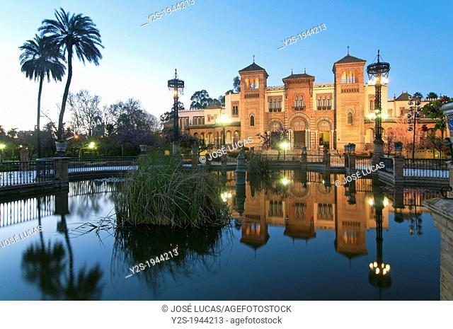 America Square and Museum of Arts and Popular Traditions, Maria Luisa Park, Seville, Spain
