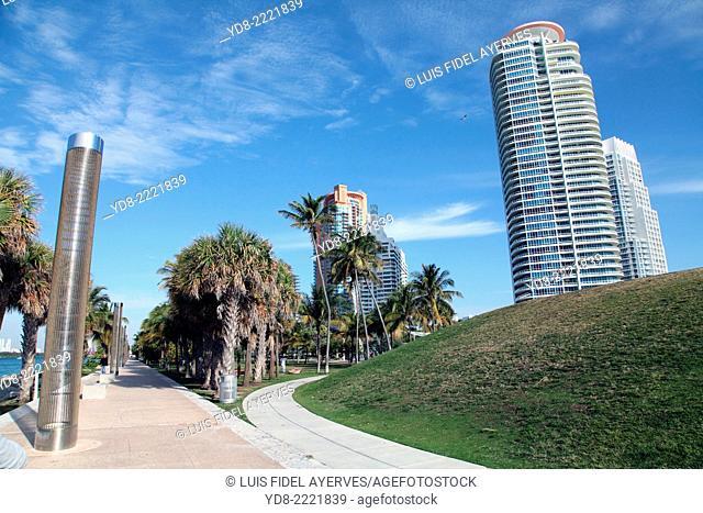 South Point Park in Miami Beach, Florida, USA