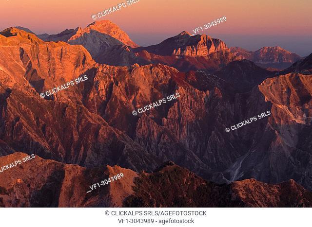 Southern Apuan alps, Lunigiana, Massa Carrara province, Tuscany, Italy, Europe