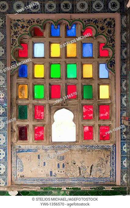 Udaipur Palace window,Rajasthan,India