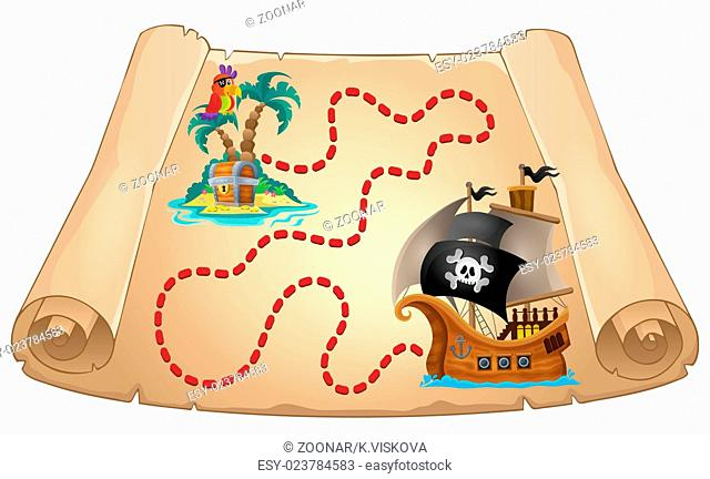 Pirate scroll theme image 1 - picture illustration