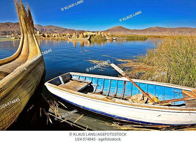 Uros Floating Islands. Titicaca Lake. Puno, Peru